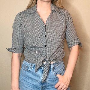 Vintage Rebecca Malone | Button Down Tie Top